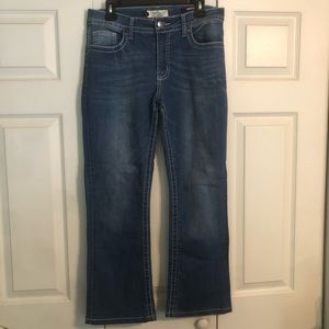 VGS Denim Jeans 8 Bootcut Rhinestone Embroidered